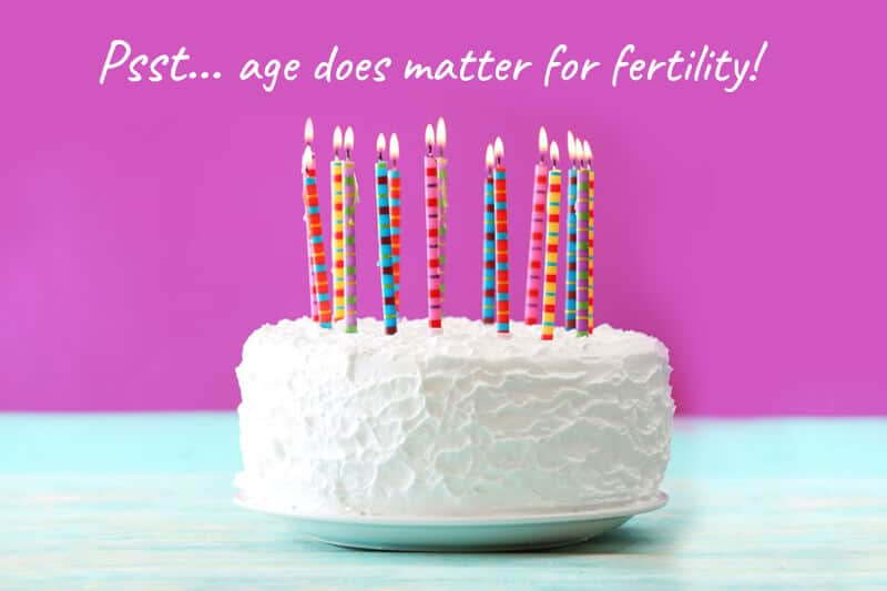 Birthday Cake | Age Matters for Fertility SMGWH